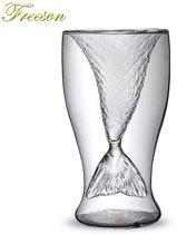 Dubbelwandig Glas met Zeemeermin Staart - 100 ML - Cocktail Whiskey Glas