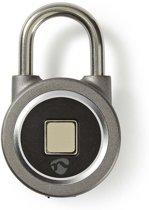 Nedis Bluetooth®-Padlock | Ontgrendeling via Vingerafdruk | Oplaadbaar | Metaal