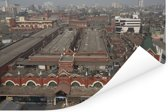Schitterende luchtfoto van Calcutta in India Poster 180x120 cm - Foto print op Poster (wanddecoratie woonkamer / slaapkamer) XXL / Groot formaat!