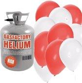 Helium tank met rood en witte ballonnen - Bruiloft - Heliumgas met ballonnen voor bruiloft
