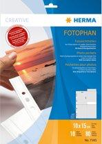 HERMA Fotosichthüllen 100 x 150 mm hoch wit 10 Covers
