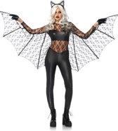 Zwart Magic Bat kostuum - L - Zwart - Leg Avenue