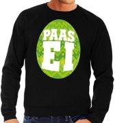 Paas sweater zwart met groen ei voor heren 2XL