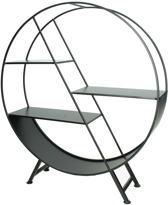 Industriële wandkast - Vakkenkast - Industrieel meubel - Zwart - 50x56x13cm - Kastje