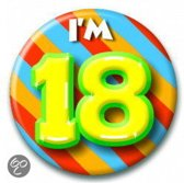 Button 18 jaar (55 mm)