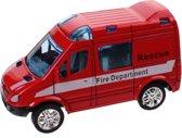 Free And Easy Brandweerwagen Pull-back 8,5 Cm Rood