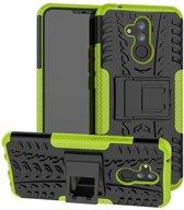 Huawei Mate 20 Lite hoesje - Rugged Hybrid Case - groen