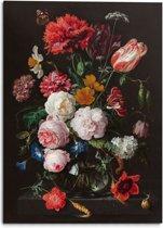 Jan Davidsz de Heem - Stilleven met bloemen in vaas - oude meesters - gouden eeuw - rijksmuseum - Schilderij 100 x 140 cm