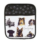 Twee Ashdene pannenlappen honden tehma dieren cadeaus keukentextiel