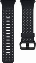 Fitbit Ionic Leder bandje - Donkerblauw - Large
