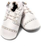 Baby Dutch babyslofjes brogue wit