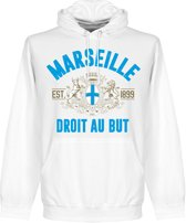 Marseille Established Hooded Sweater - Wit - S