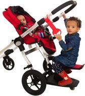 Kid-Sit - Meerijdplankje - Zwart met Rood zitje