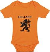 Baby rompertje Oranje leeuw Holland | Korte mouw 74/80 oranje