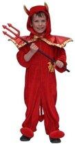 Pluche duivel halloween kostuum voor kinderen 128