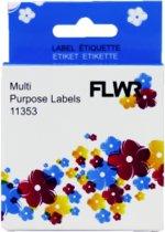 FLWR - Labelprinterrol / 11353 / Wit - geschikt voor Dymo