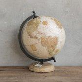 Wereldbol globe creme 20 x 22 x 29 cm