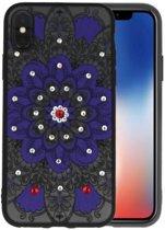 Diamant Mandala Hoesjes Cases voor iPhone X Paars