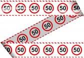Markeerlint 50 jaar met stop bord