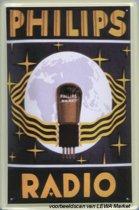Philips Radio reclame Philips Lamp reclamebord 10x15 cm