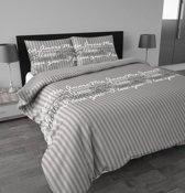 Sleeptime Ti'amo Dekbedovertrek - Eenpersoons - 140 x 220 cm - Grijs