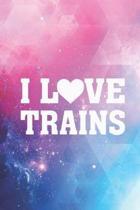 I Heart Love Trains - Locomotive Journal