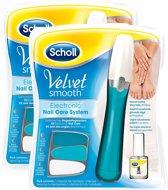 Scholl Velvet Smooth elektronisch nagelverzorging-systeem met nagelverzorgingsolie- 2 sets - Grootverpakking
