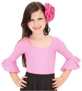 Ballet pakje licht roze - met 3/4 mouw - maat 6 - 104-110