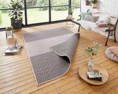 Binnen & Buiten Vloerkleed Borneo 103770 80x150 cm Zwart & Crème