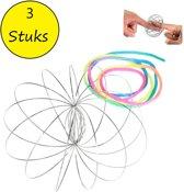 Magic flow ring |Spiraal bloem magische armband | 3D ringen set van 3 stuks 6cm
