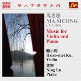 Sicong: Music For Violin & Piano