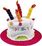 Hoed Happy Birthday, kleur kan niet aangegeven worden.