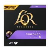 L'OR Espresso Lungo Profondo Koffiecups - 10 x 20 cups - voordeelpak - 200 koffiecups