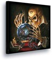 Fortune Teller Skeleton Canvas Print 80cm x 80cm