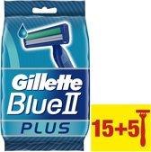 Gillette Blue II Plus wegwerpscheermesjes - 20 stuks