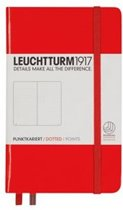 Leuchtturm1917 Notitieboek - Pocket - Puntjes - Rood