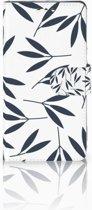 Sony Xperia XZ1 Boekhoesje Design Leaves Blue