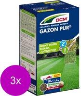Dcm Gazon Pur 20 m2 - Gazonmeststoffen - 3 x 1.5 kg (Mg)