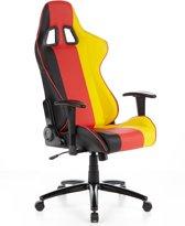 hjh office Duitsland - Bureaustoel - Racingstoel - Zwart / rood / goud