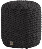 Muffin poef 40xH42 cm rond rope grijs