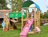 Jungle Gym - Farm Bridge - Houten Speeltoestel voor Buiten - Met Glijbaan - Fuchsia