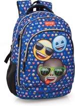 Emoji - 3 vrienden Rugzak - 44.5 cm hoog - Blauw