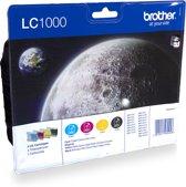 Brother LC1000BK - Inktcartridge / Cyaan / Magenta / Geel / Zwart