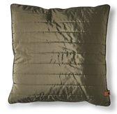 Rivièra Maison - RM Winter Jacket Pillow Cover moss 50x50 - Sierkussen - Groen - Polyester
