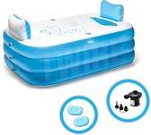 Tubbles® - Opblaasbaar ligbad voor thuis - 2 Extra opblaasbare nekkussens - met Elektrische Pomp - opblaasbare badkuip - zwembad - Tubble Bath - Inflatable bathtub - Opblaasbaar zwembad - Voor kinderen en volwassenen - vrijstaand ovaal Ligbad