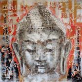 Boeddha Schilderij 95cmx95cm