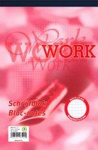 Work schrijfblok A5 - ruit 5 mm - 70 grams - 100 vel - 5 stuks