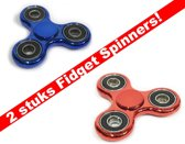 2 stuks Fidget Spinners -Metallic Edition-Hand spinners -Stress Spinner