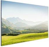 Heuvellandschap Nieuw-Zeeland  Aluminium 90x60 cm - Foto print op Aluminium (metaal wanddecoratie) / Zee en Strand