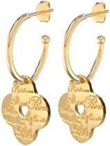 Lora di Lora Oorbellen 22 Sempre. Unieke oorbellen met bedeltjes 18K Vermeil Goud 1.5 cm
